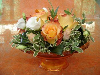 Weber fiori fioricoltura floristica gerani orchidea piante - Centrotavola natalizi con fiori finti ...